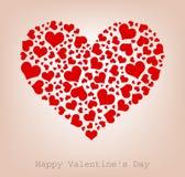 Corazones, día de tarjeta del día de San Valentín feliz stock de ilustración