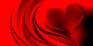 Corazones de día de San Valentín con el fondo sombreado stock de ilustración