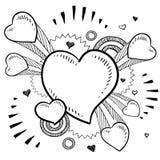 Corazones de estallido para el día de tarjeta del día de San Valentín Fotos de archivo libres de regalías