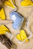Corazones de la cáscara de la fruta cítrica Imagenes de archivo