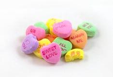 Corazones de la conversación del caramelo Imagenes de archivo