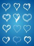 Corazones de la mano de la tarjeta del día de San Valentín Imagen de archivo libre de regalías