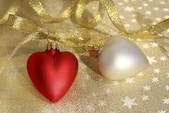 Corazones de la Navidad Foto de archivo libre de regalías