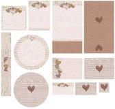 Corazones de la nota del amor que se casan el sistema de la invitación Foto de archivo