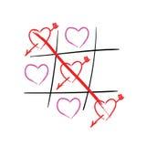 Corazones de la punta de Tic Tac Día de tarjetas del día de San Valentín feliz Imagen de archivo