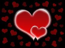 Corazones de la tarjeta del día de San Valentín Fotografía de archivo libre de regalías