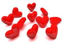 Corazones de la tarjeta del día de San Valentín Imágenes de archivo libres de regalías