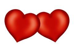 Corazones de la tarjeta del día de San Valentín Imagen de archivo