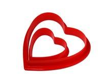 Corazones de la tarjeta del día de San Valentín 2 que jerarquizan dentro de uno a con Imagen de archivo