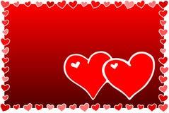 Corazones de la tarjeta del día de San Valentín stock de ilustración