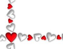corazones de la tarjeta del día de San Valentín 3D Fotos de archivo