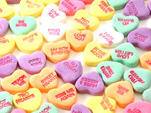 Corazones de la tarjeta del día de San Valentín Foto de archivo
