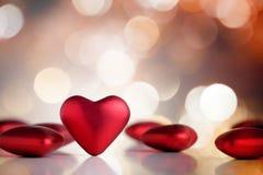 Corazones de la tarjeta del día de San Valentín Imagenes de archivo