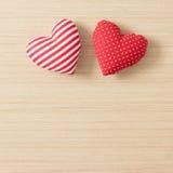 Corazones de la tarjeta del día de San Valentín Fotografía de archivo