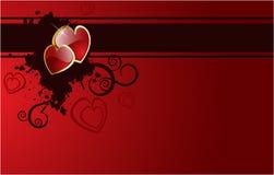 Corazones de la tarjeta del día de San Valentín del vector Libre Illustration