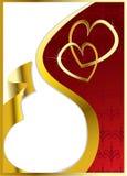 Corazones de la tarjeta del día de San Valentín del vector Ilustración del Vector