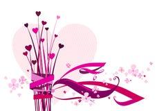 Corazones de la tarjeta del día de San Valentín Imagen de archivo libre de regalías