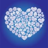 Corazones de la tarjeta del diamante Fotos de archivo