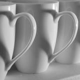 Corazones de la taza de café Fotografía de archivo libre de regalías