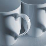 Corazones de la taza de café Foto de archivo libre de regalías