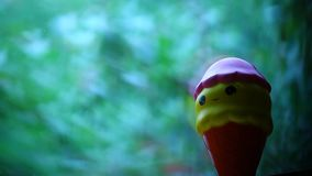 Corazones de la ventana del helado del juguete almacen de video