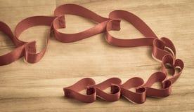 Corazones de las cintas Fotografía de archivo libre de regalías
