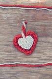 Corazones de las lanas Fotografía de archivo libre de regalías