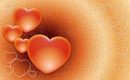 Corazones de las tarjetas del día de San Valentín Foto de archivo