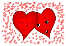 Corazones de las tarjetas del día de San Valentín Imagenes de archivo