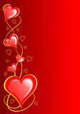 Corazones de las tarjetas del día de San Valentín Foto de archivo libre de regalías