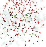 Corazones de los colores de vuelo Fotografía de archivo libre de regalías