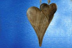 Corazones de madera Imagen de archivo