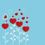 Corazones de papel para la celebración del día del ` s de la tarjeta del día de San Valentín Imagenes de archivo
