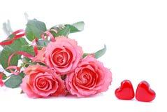 Corazones de Valentin Imagen de archivo libre de regalías