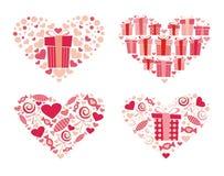 Corazones de Valentineâs Fotografía de archivo libre de regalías