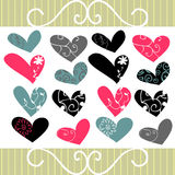 Corazones decorativos Imagen de archivo libre de regalías