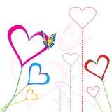 Corazones del amor ilustración del vector