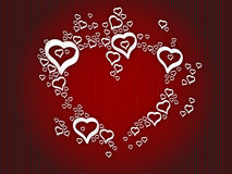 Corazones del amor del fondo Imagen de archivo libre de regalías