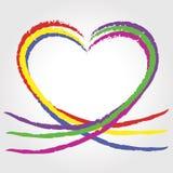 corazones del arco iris Fotos de archivo