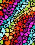 Corazones del arco iris Imágenes de archivo libres de regalías