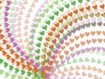 Corazones del arco iris del resorte stock de ilustración