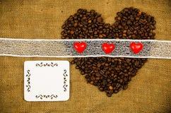Corazones del café Imagen de archivo