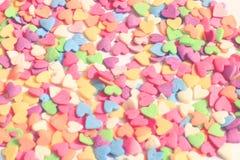 Corazones del caramelo foto de archivo