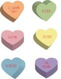 Corazones del caramelo Fotos de archivo libres de regalías