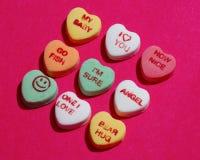 Corazones del caramelo Fotografía de archivo libre de regalías