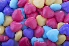 Corazones del caramelo del fondo Foto de archivo libre de regalías