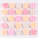 Corazones del caramelo en colores pastel Imágenes de archivo libres de regalías