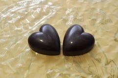 Corazones del chocolate Imagen de archivo libre de regalías