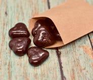 Corazones del chocolate imagen de archivo