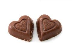 Corazones del chocolate Fotos de archivo libres de regalías